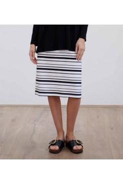 Mela Purdie Cone Skirt - Lauren Stripe