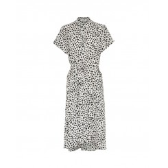Mela Purdie S.S Stand Collar Dress - Feather Spot Mousseline