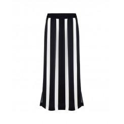Mela Purdie Cabana Skirt - Domino Stripe Satin Print - Sale