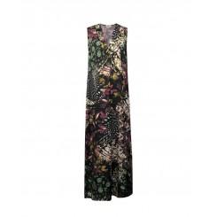 Mela Purdie Parquet Maxi Dress - Orchid Bazaar Chiffon Satin Print