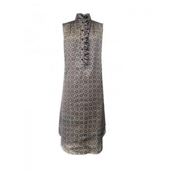 Mela Purdie Verona Dress - Lattice Chiffon Satin Print - Sale