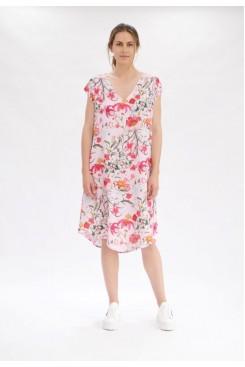 Mela Purdie Sway Dress - Poppy Pink Floral Print