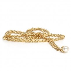 Fantasy Pearl Necklace, 14ct Gold 100cm