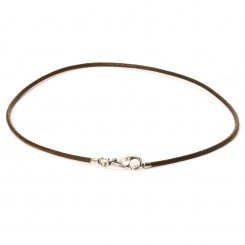 Necklace, Brown leather
