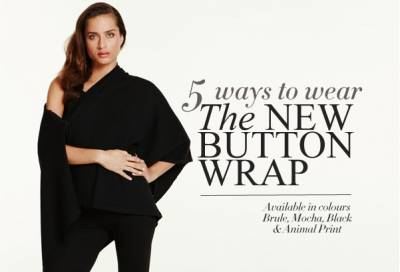 How to wear the new MELA PURDIE Button Wrap