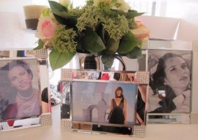 Photo frames, flowers