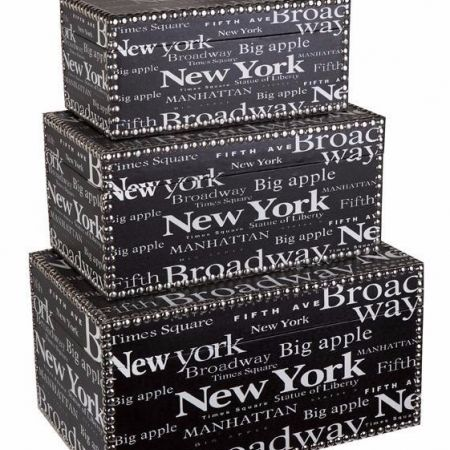 New York Icon Storage Boxes